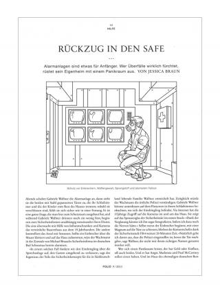 Editorial Illustration for NZZ Folio magazine (panic room)