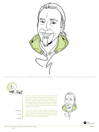 Owner's portrait for Mr. FRY graphic agency website