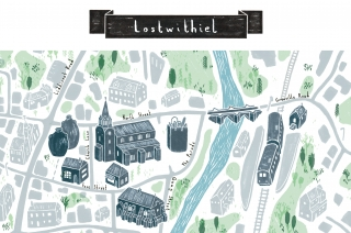Lostwithiel Map Illustration