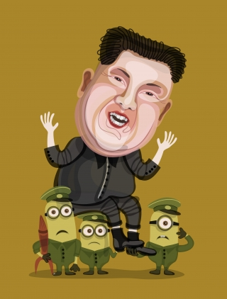 Kim Jong-Un and little minions.jpg
