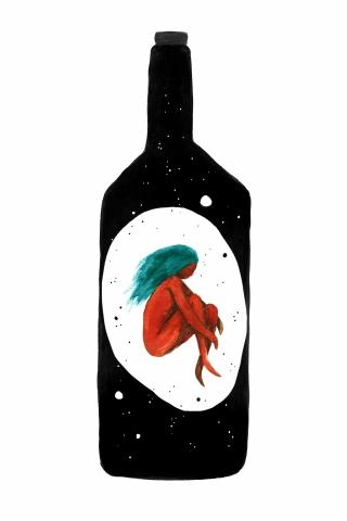 Girl in a bottle