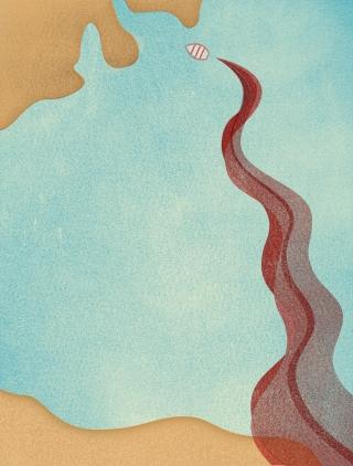 Immigrants, Mediterranean Crisis, Sea, Blood