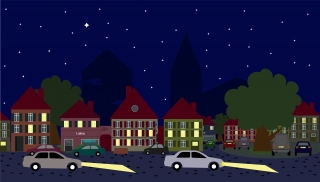 Cars in the city at night.jpg