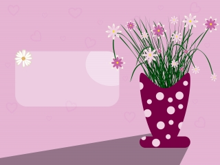 A vase with flowers and space for your message.jpg