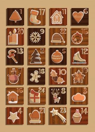 adventcalendar with twenty four accessoirs