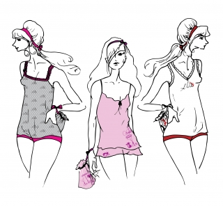 LaraGeogine_Elle_sleepwear Fashion Illustration