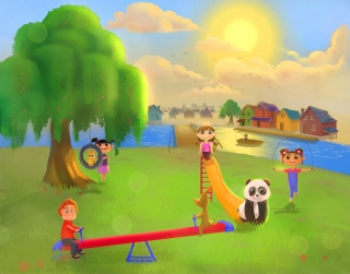 Children playground with a little panda.jpg
