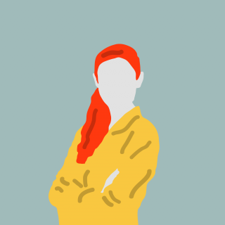 Woman with red hair wearing yellow