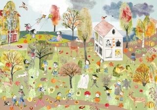 Wimmelbild Herbst