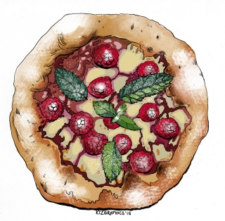 Mini raspberry pizza
