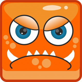 Orange angry monster