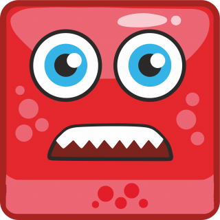 red cartoon monster