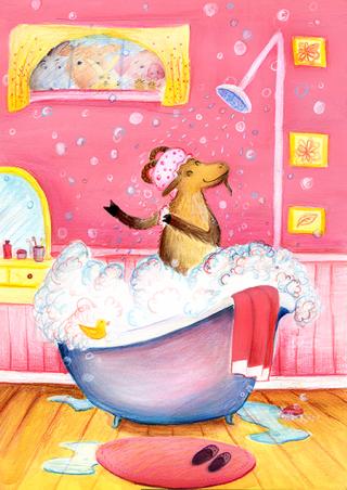 goat bath