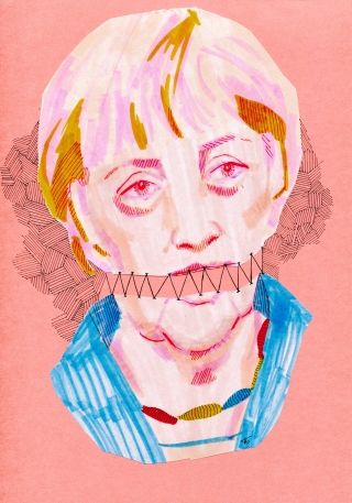 Angela Merkel bounded