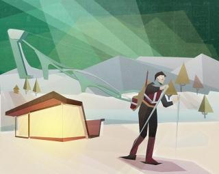 Winter skier in a modern sport complex.jpg