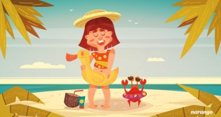 Summer friends girl with a crab.jpg
