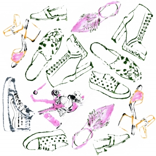 Different shoes: sandals, flats, sneakers etc pattern.jpg