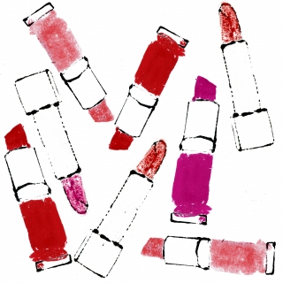 Lipstick pattern different lipsticks pink and red