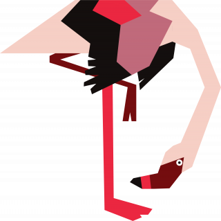 Pink flamingo standing.png