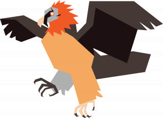 Vulture with spread wings.png