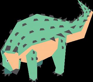 Prehistoric ankylosaur