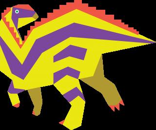 Prehistoric hadrosaur