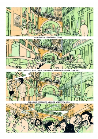 Comic about the changes in space throughout the years in the city of Lisbon. .jpg