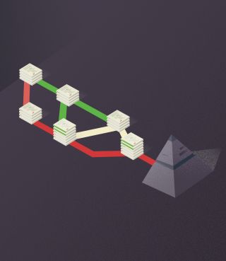 Virtual pyramid with connected libraries.png