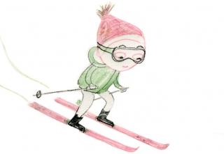 Junge Schifahren Skiing Arinda Craciun