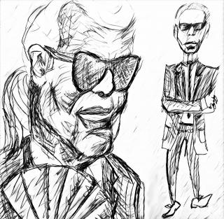 Karl Lagerfeld Caricature