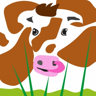 Funny cow standing at the grass.jpg