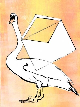 Swan with envelope