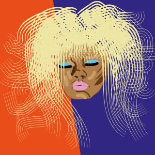 Rihanna star portrait