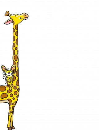 a mouse and a giraffe