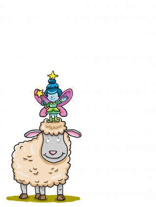 a sheep and a fairy