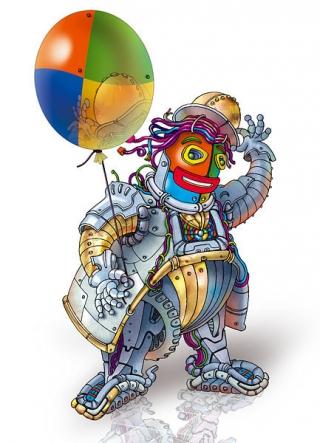 The clown-robot