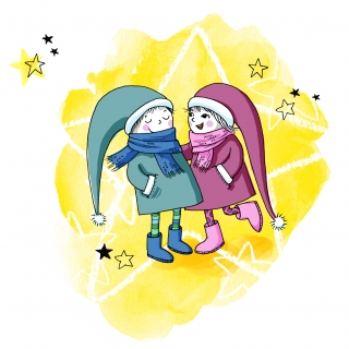 Winter star boy and girl