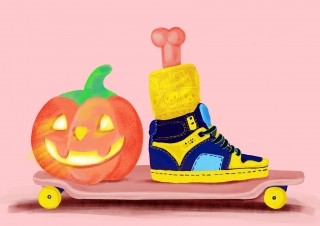 Haloween skater on a board.jpg
