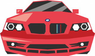 BMW red car