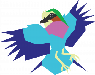 Lilac Breasted Roller Bird Vector Artwork