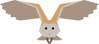 Barn Owl Bird Vector Artwork.png