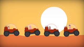 Buggies on Mars, from TEd-Ed film about life on Mars