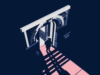 Movie poster man standing on the stairs.png