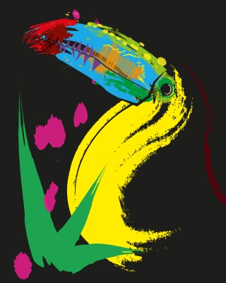 Colorfull and artsy toucan