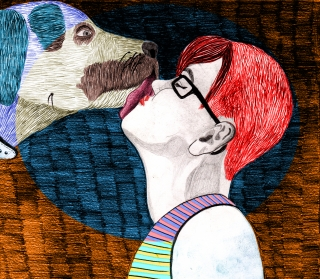 Dog is kissing a girl.jpg