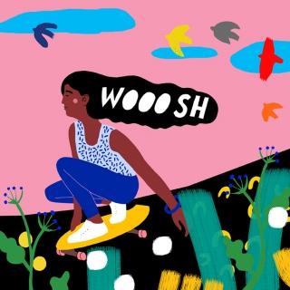A girl skate boarding down a hill WOOOSH.jpg
