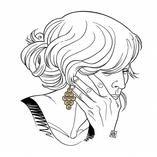Thoughtful woman with gold earrings.jpg