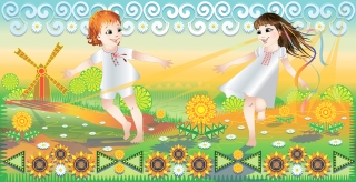 Carefree children play fun in nature in summer.jpg