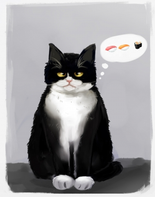 I love sushi cat