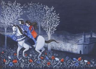 Goat - Face , the King and the girl on horseback.jpg